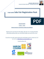 Harlow Jobs Fair Registration Pack - 26th October