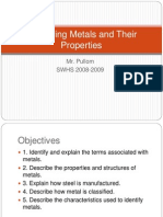 Identifying Metals and Their Properties