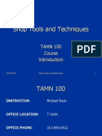 TAMN 100 - Course Introduction
