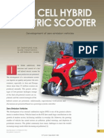 fuel cell hybrid electric scooter