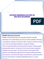 Anthony Morrison Lecture on Multiple Sclerosis