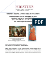 Christie's Crowns Auction Week In Dubai With  Part II Realising $2,260,250 - Selling 88% By Value