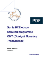 Note d'Esther Jeffers Sur Le Nouveau Programme de La BCE, Octobre 2012