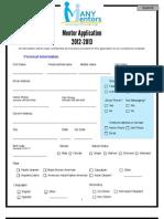 *Mentor Application 2012*