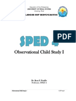 Observational Child Study 1 (SPED 4)
