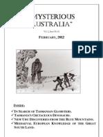 Mysterious Australia Newsletter - February 2012