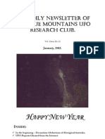 The Blue Mountains UFO Research Club Newsletter - January 2012