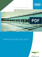Tarifas Alquiler Fregadoras y Barredoras Tennant 2012