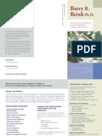 Brochure for Barry R Brink, PhD
