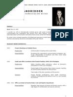 CV English - 2012