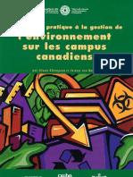 Introduction practique à la gestion de l'environnement sur les campus canadiens