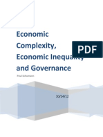 Economic Complexity, Economic Inequality and Governance