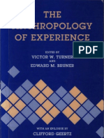 Victor Turner, Edward Bruner - The Anthropology of Experience