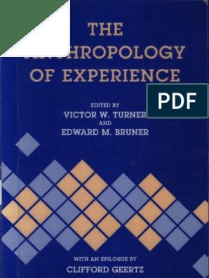 Victor Turner, Edward Bruner - The Anthropology of