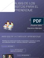ANÁLISIS DE LOS REQUISITOS PARA EL APRENDIZAJE
