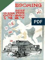1927 Homecoming Football Program