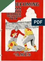 1929 Homecoming Football Program