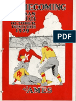 1929 Homecoming Football Program