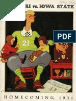 1931 Homecoming Football Program