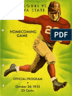 1935 Homecoming Football Program