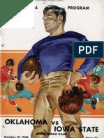 1936  Homecoming Football Program