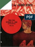 1938 Homecoming Football Program