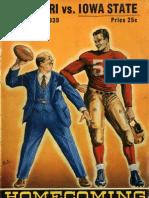 1939 Homecoming Football Program