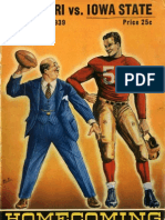 1939 Homecoming Football Program
