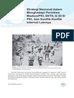 13. Strategi Nasional Dalam Menghadapi Peristiwa Madiun, PKI, DI TII, G 30S PKI Dan Konflik-Konflik Internal Lainnya