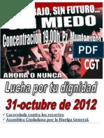 Concentración 31 octubre 2012
