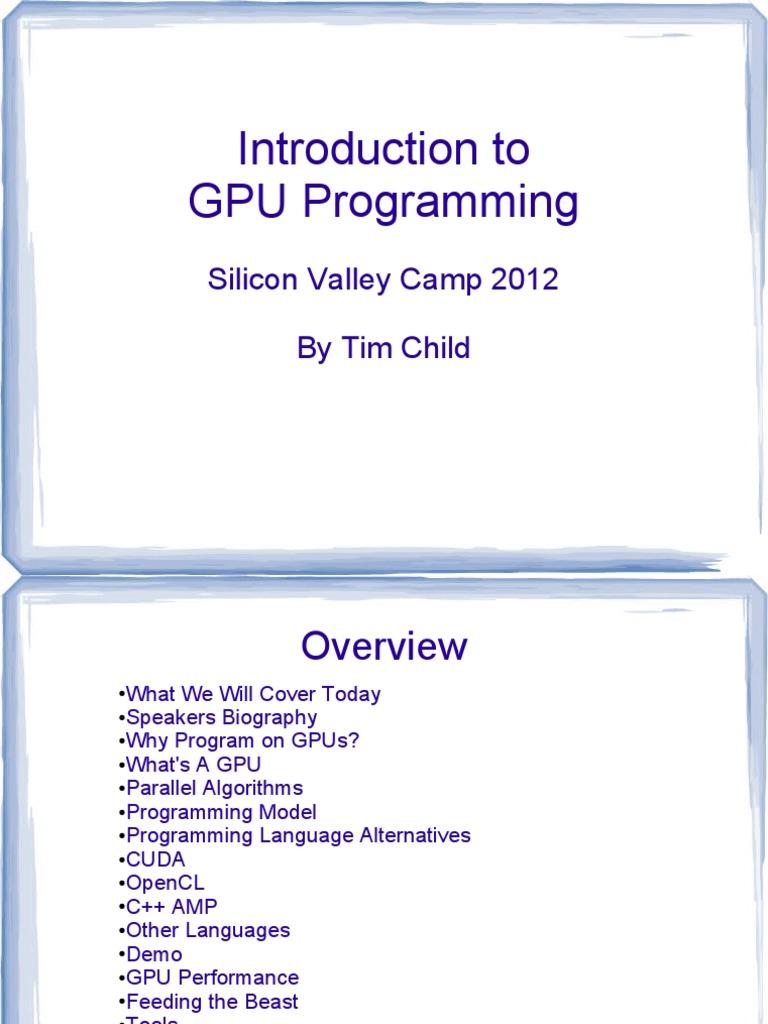 Intro to GPU Programming | Graphics Processing Unit | Areas