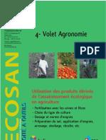 Volet Agronomie Utilisation Des Produits d Riv s de l Assainissement Cologique en Agriculture