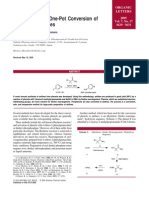 A New Practical One-Pot Conversion of Phenol to Anilines