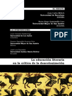 La educación literaria en la crítica de la descolonización-Mélich-Quintanilla