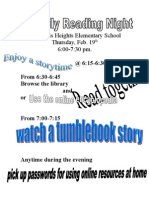 Family Reading Night Flyer