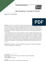 Customer Relationship Management a Strategic Perspective