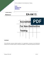 EA-4-15 Acreditarea Laboratoarelor de Incercari Nedistructive Feb 2003