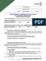 Consentimiento informado de colocación de catéteres ureterales del Sescam