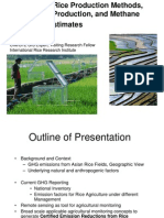 2010.Overview of Rice Production Methods, Agricultural Production, And Methane Emissions Estimates