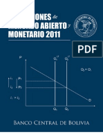 Operaciones de Mercado Abierto 2011