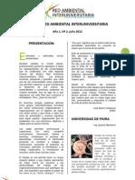 Boletín Julio - Red Ambiental Interuniversitaria