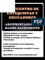 Cartel I Encuentro Educadores