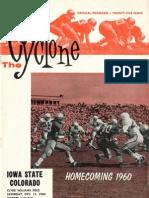 1960 Homecoming Football Program