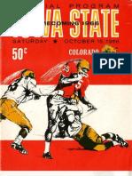 1966 Homecoming Football Program