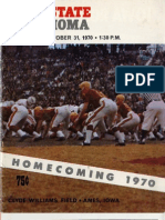 1970 Homecoming Football Program