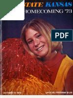 1973 Homecoming Football Program