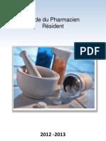 Guide Du Pharmacien Résident 2012-2013 (2014 pas de guide )