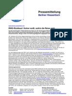 Pressemitteilung vom Berliner Wassertisch vom 25. Oktober 2012