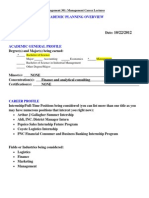 Academic Planning Overview