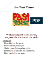 Past Tense Verbs from Chapter 25